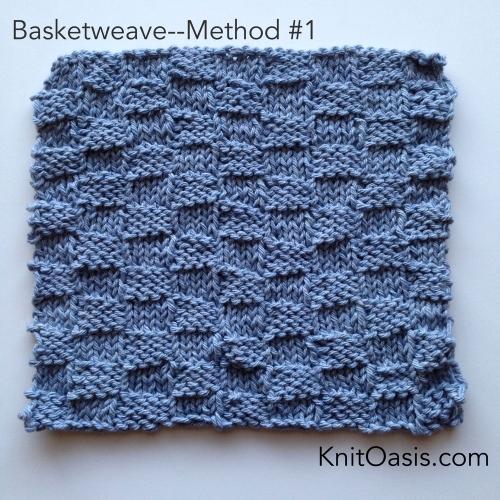 Basketweave, Method 1; plus a Free Dishcloth Pattern — KnitOasis