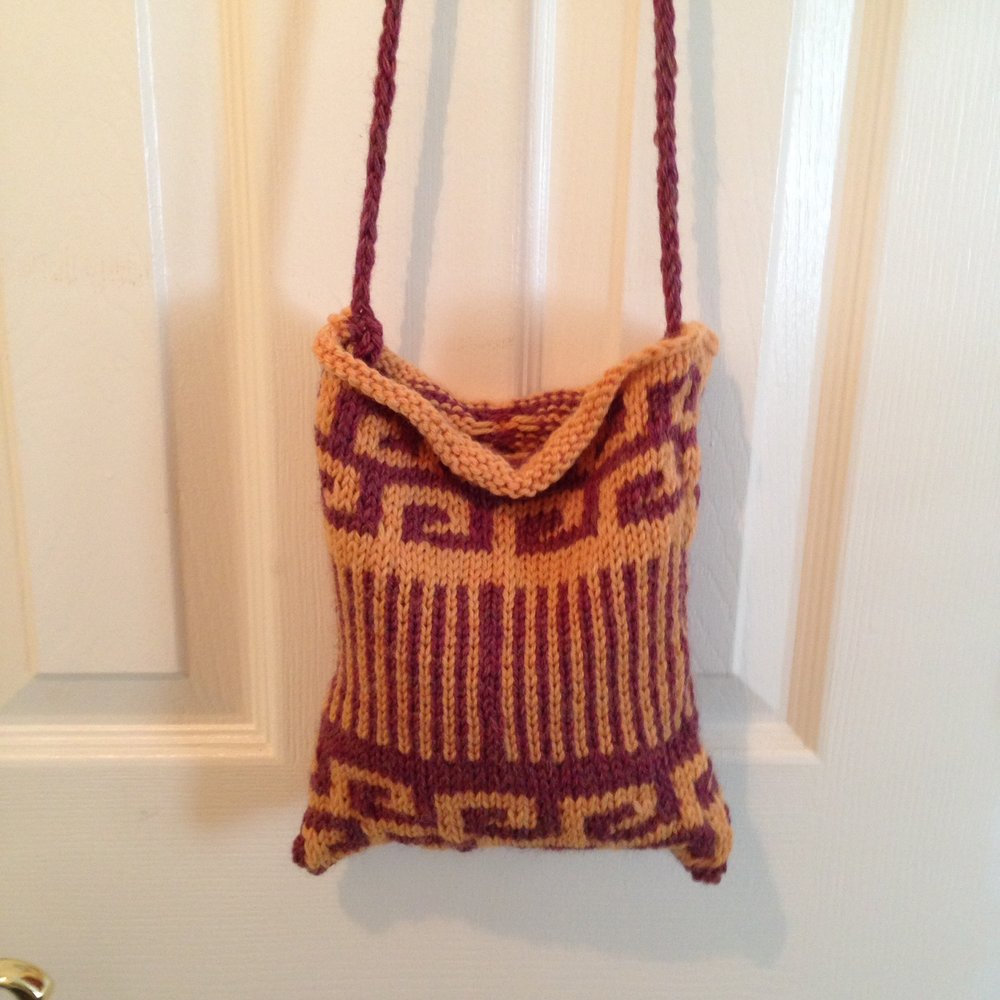 Swirls and Stripes bag prototype.