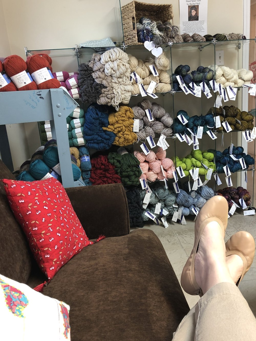 Because only a Local Yarn Store would give you a spot like this to knit!