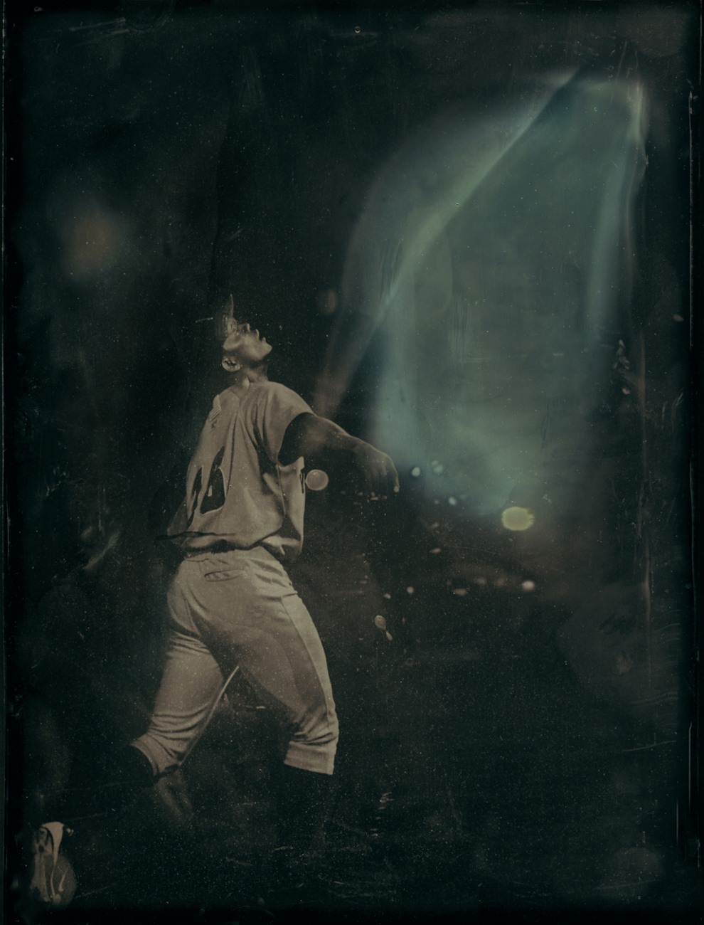 0132 Fly Ball Tintype