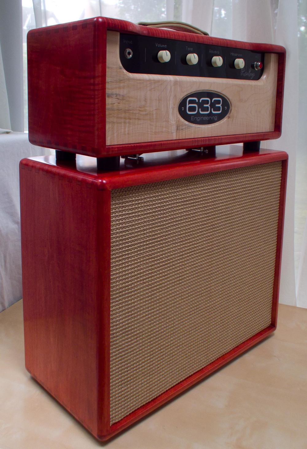 Flame maple Ruby head and matching Compact 1x12/2x10 Cab