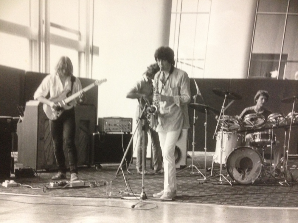 Actual Proof, RFH 1983. Shaun Thompson - sax, Paul Stipetic - drums, Tony Stipetic - Bass, Cliff Brown - guitar