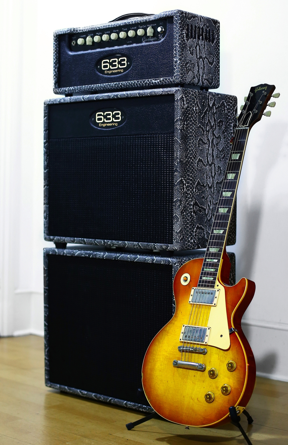 Custom 36 and matching 1x12 cabinets with the owners 1958 Les Paul