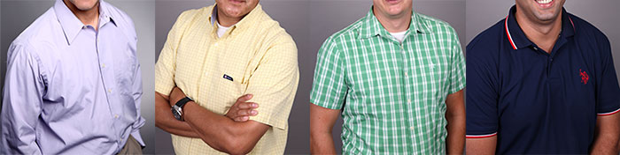 Baggy/Wrinkled. Lighter than your skin-tone pastels. Terrible patterns. Distracting Polo
