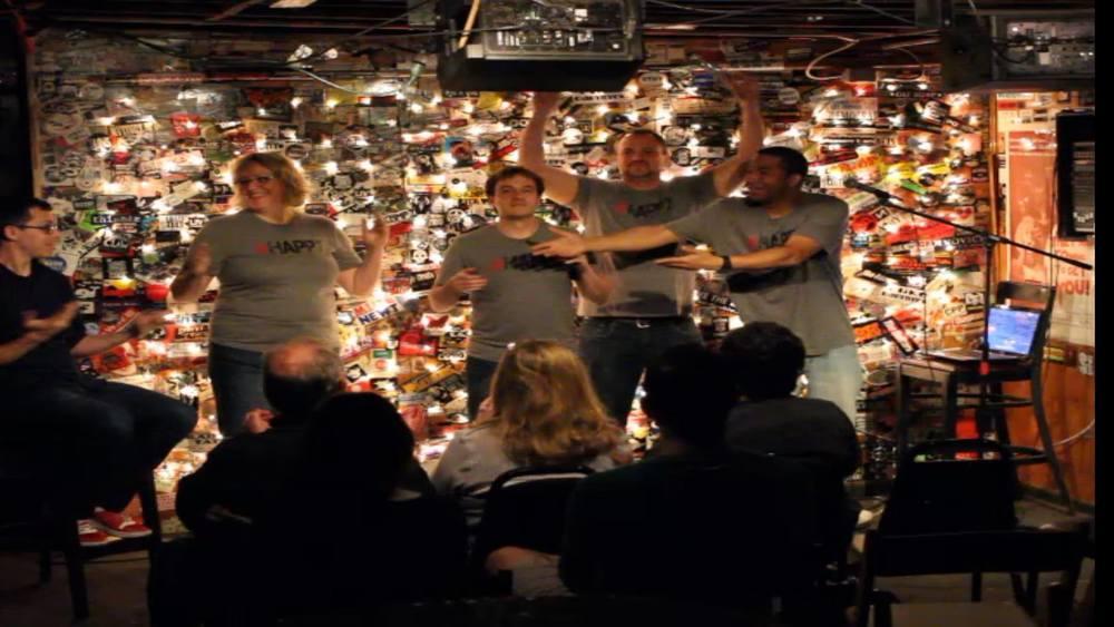 "A toast to Jeff ""Ball Tease"" - Darla, Matt, Paul and Joe."