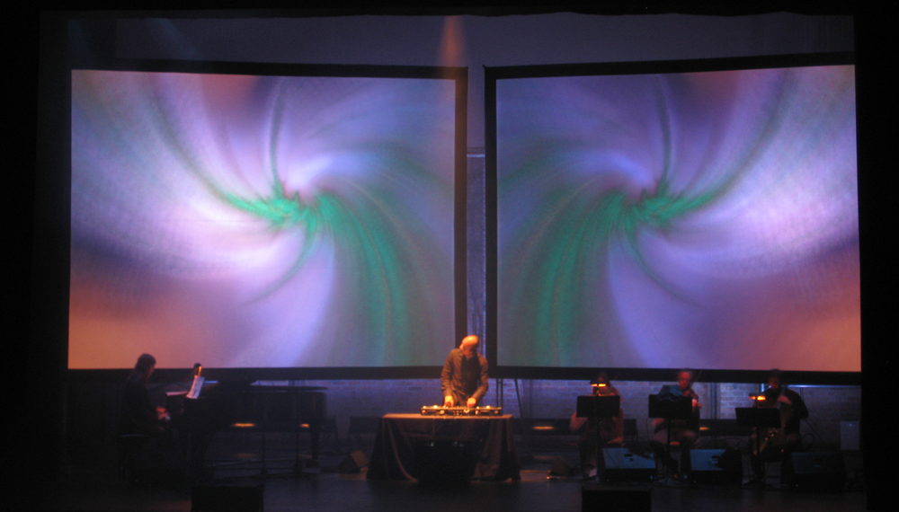 Video support for DJ Spooky at Texas Performing Arts