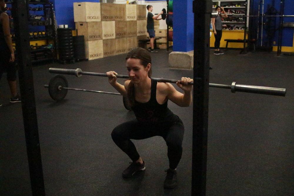 squats  Adjust depth and load for comfort  Box squats