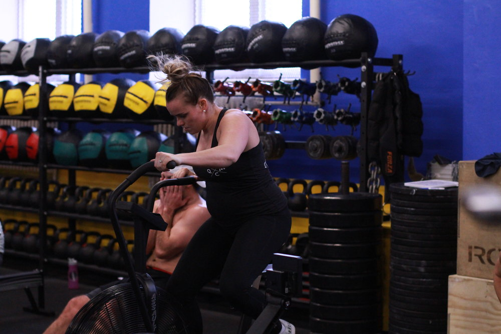 Running  200m sled drag with 25-45lb to replace 400m run. Sled straps on shoulders  Sled push. Weight that makes 2min effort  Row 500m  Assault Bike 0.4-0/0.6 miles