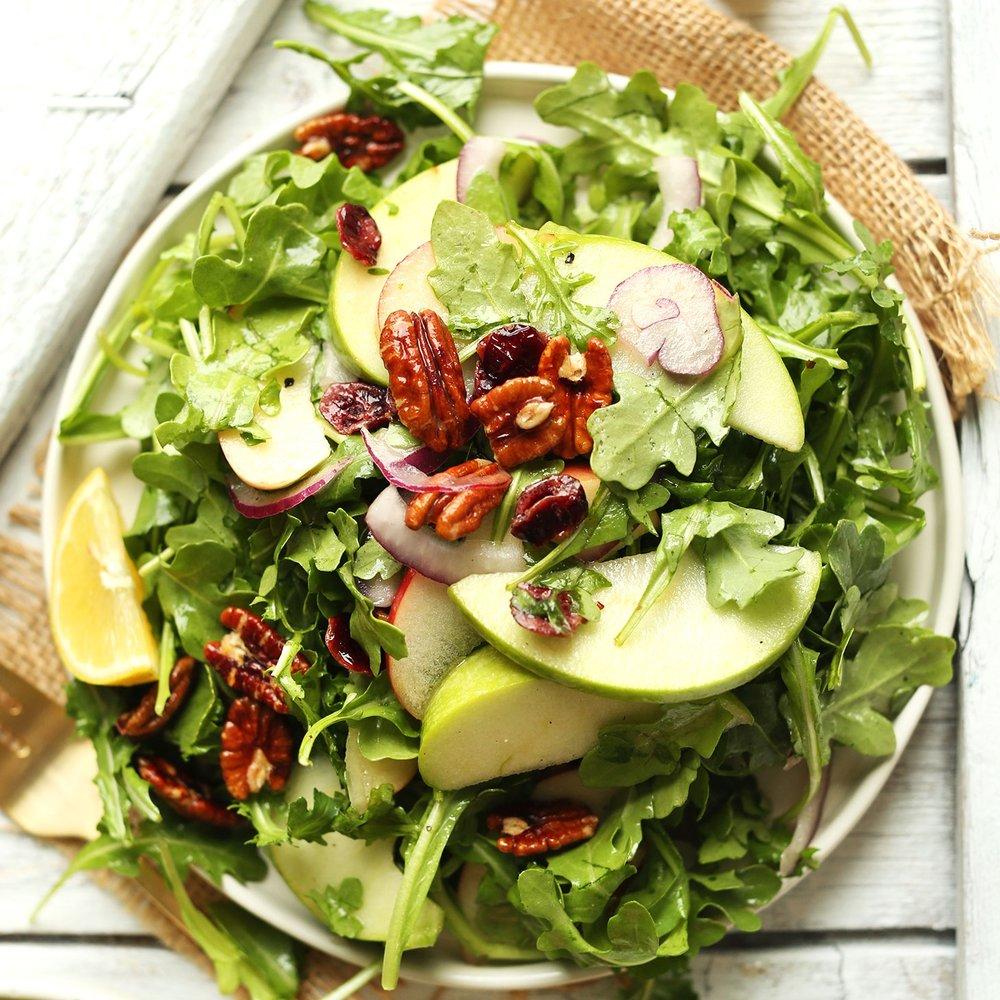 Apple Pecan Arugula Salad