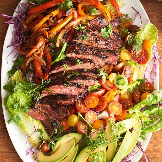 Warm Fajita Steak Salad