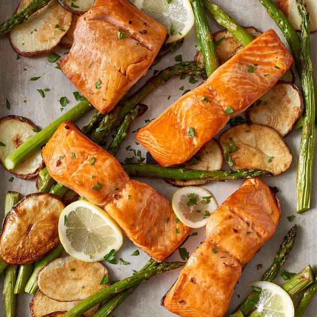 Sheet Pan Crispy Salmon and Potatoes