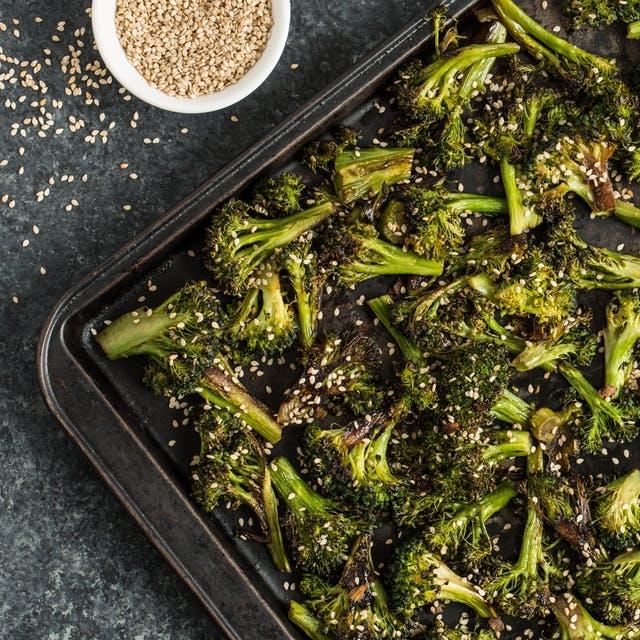 Sesame-Ginger Roasted Broccoli