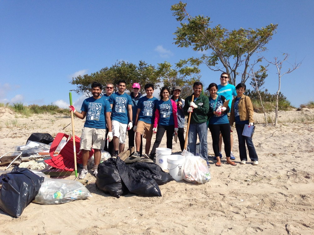 Volunteers remove 1110 lbs of debris during the Annual New York State Beach Cleanup.
