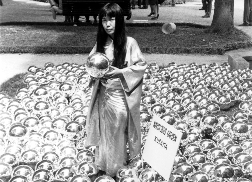 Narcissus Garden by Yayoi Kusama_Venice Biennale_1966_Installation and Portrait.jpg
