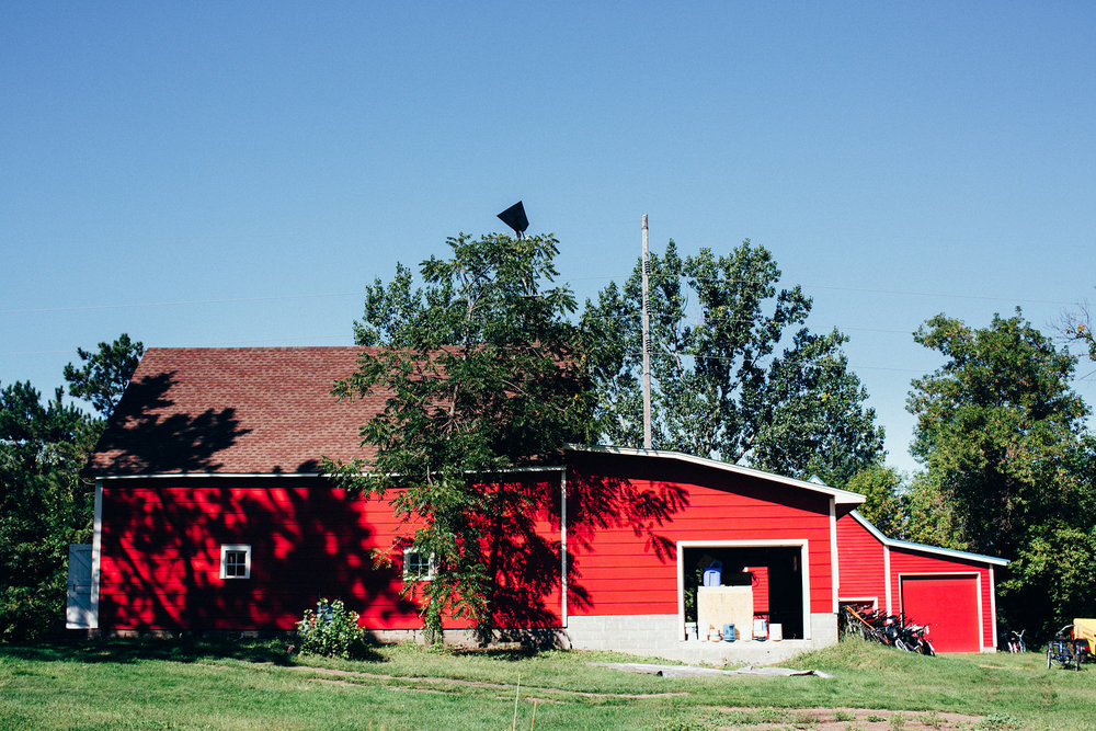 The main barn where they were prepping for a hops picking festival.