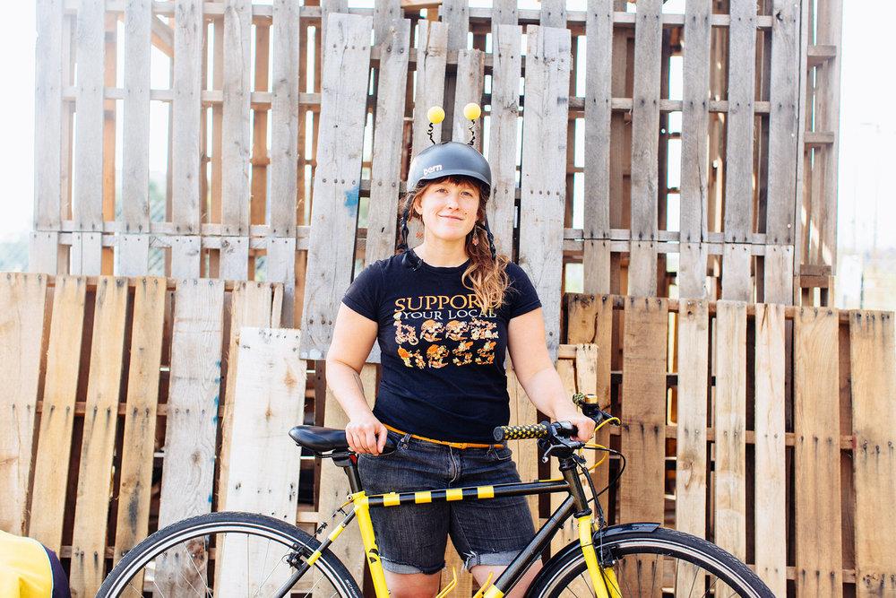 Erin Rupp, educator, beekeeper & bicyclist.