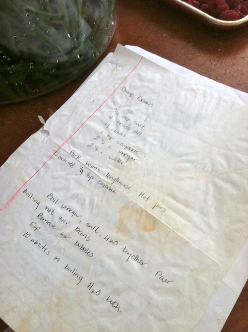 What a good recipes look like, stained, worn and loved.