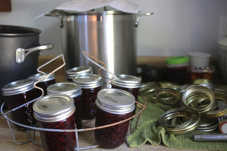 Raspberry Jam, makes four cups.