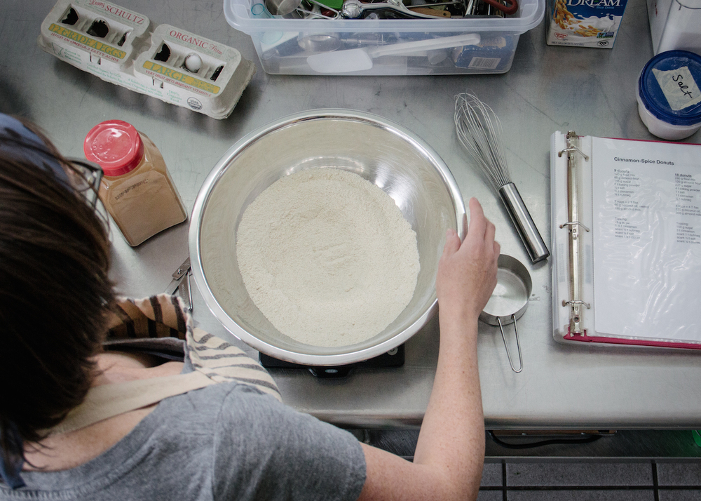 Mixing up Sift's gluten free flour blend.