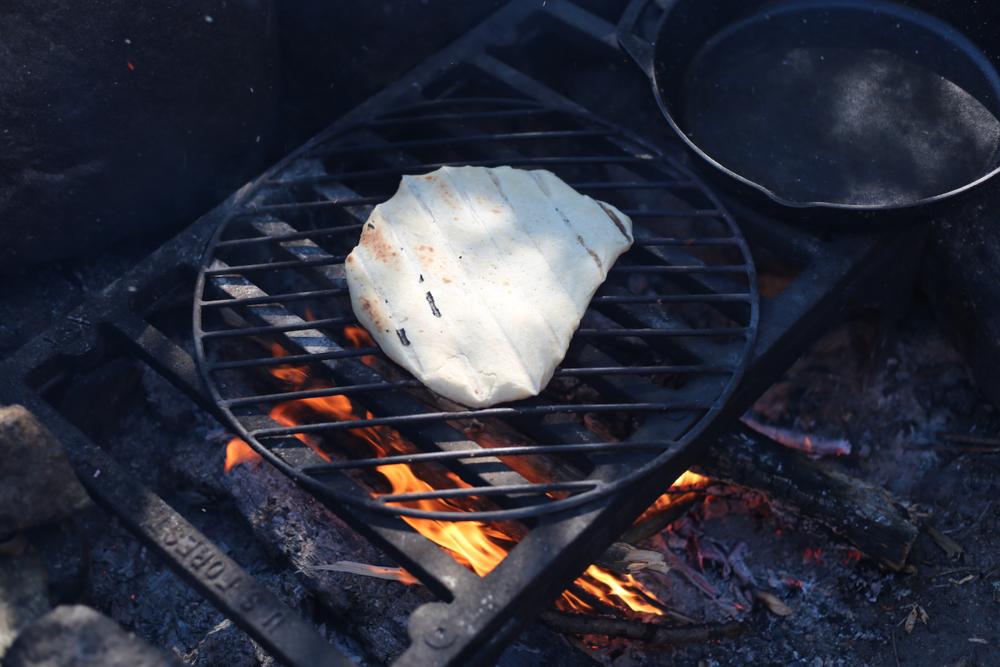 campfire flat-bread pizza