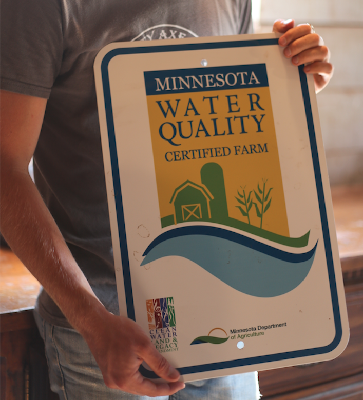 Mighty Ax recently became one of the first participants in the Minnesota Agricultural Water Quality Certification Program, a reflection of their commitment  to good land stewardship of their farm for generations to come.