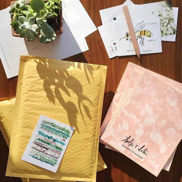 One of our favorite cures for cabin fever is garden planning. Shipping out and restocking for the busy planning season ahead. @aeastvold what's our countdown at for seed starting?! #gardenplanning #tootieanddotes #gardendesign #gardenjournal #cabinfever #succulents #succulentlove