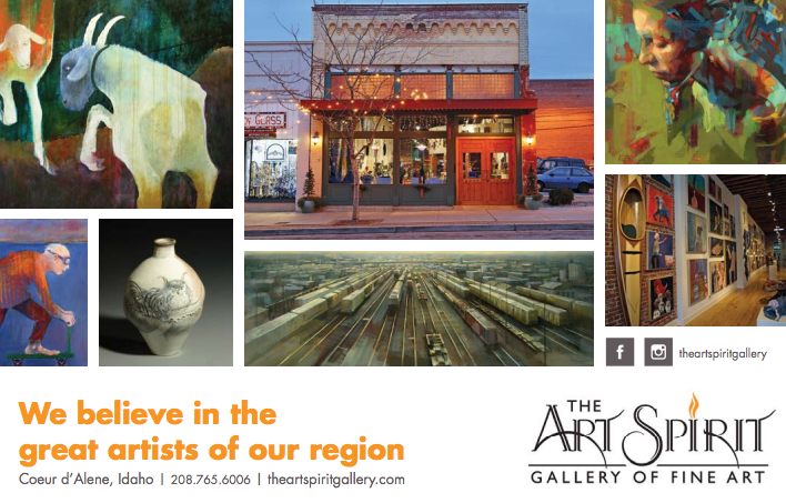 The Art Spirit Gallery + Education - In addition to delightfully greeting every guest and tirelessly showcasing the best artists in the area, Blair Williams and the Art Spirit team are committed to many local causes that promote community, education, the arts, and the environment. One major example is the Coeur d'Alene Education Partnership. [Learn more about the CDAEP]