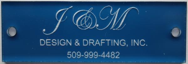 Blue Reverse Engrave