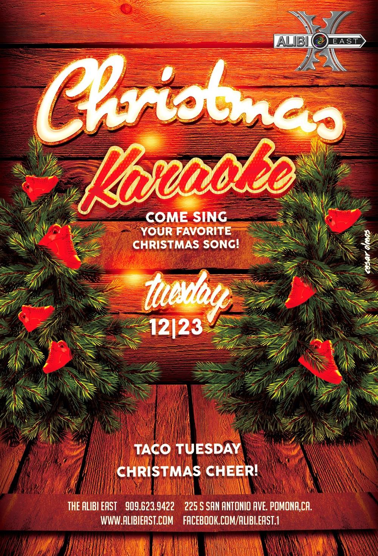 CHRISTMAS KARAOKE & TACO TUESDAY! — Alibi East & Back Alley Bar