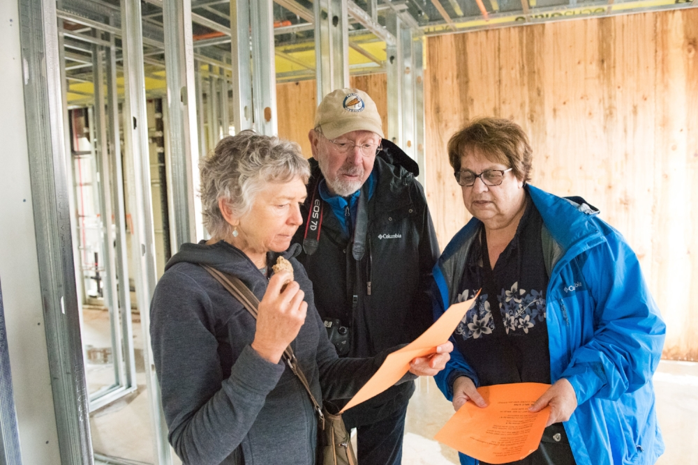 During a construction progress tour in October, PDX Commons members organized and participated in a scavenger hunt.