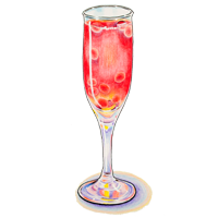 ENCHANTED YOUTH  pomegranate syrup, brut sparkling wine $9.
