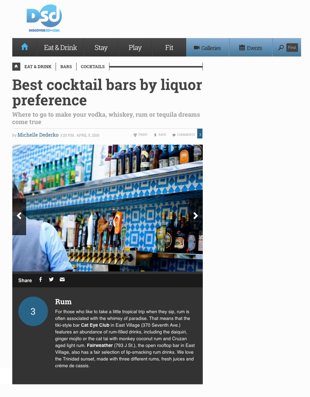 Best Cocktail Bars by Liquor Preference