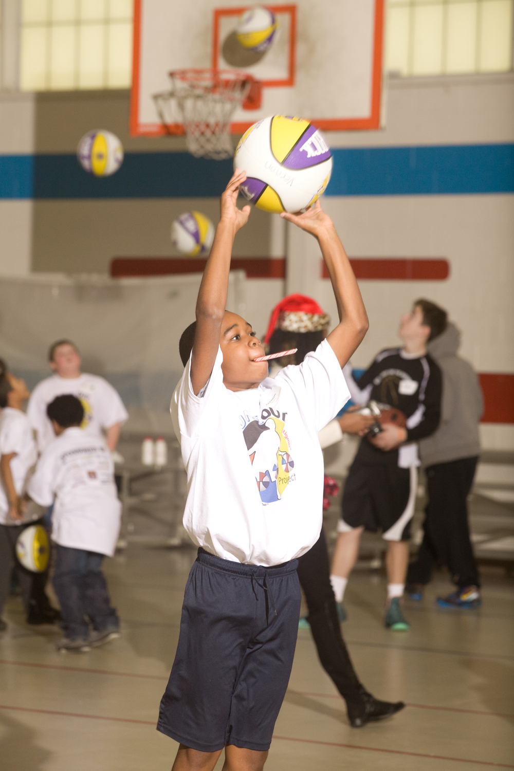 Bounce out the Stigma basketball camp in New Castle, Delaware on December 13, 2014
