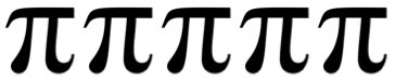 This is a picture of five pi.