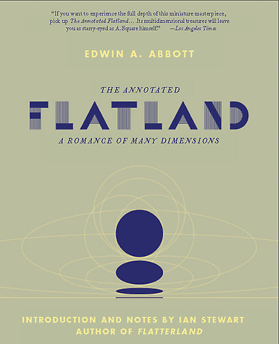 This is the cover of The Annotated Flatland.