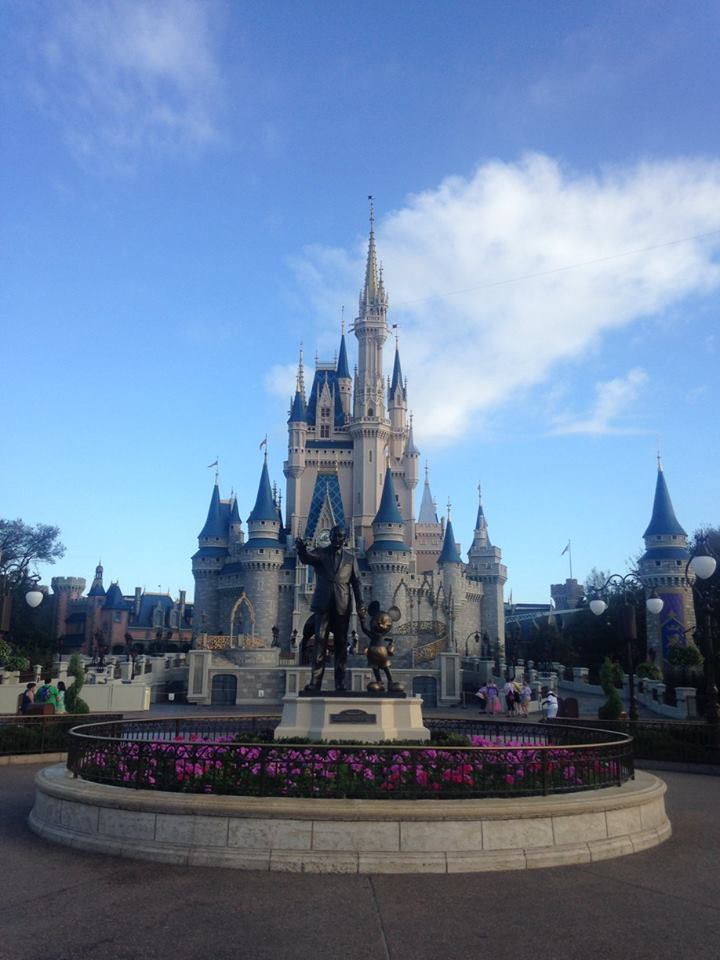 We arrived early on our first day as we had a breakfast reservation. We got to walk through the park practically empty so I was able to get this great shot.