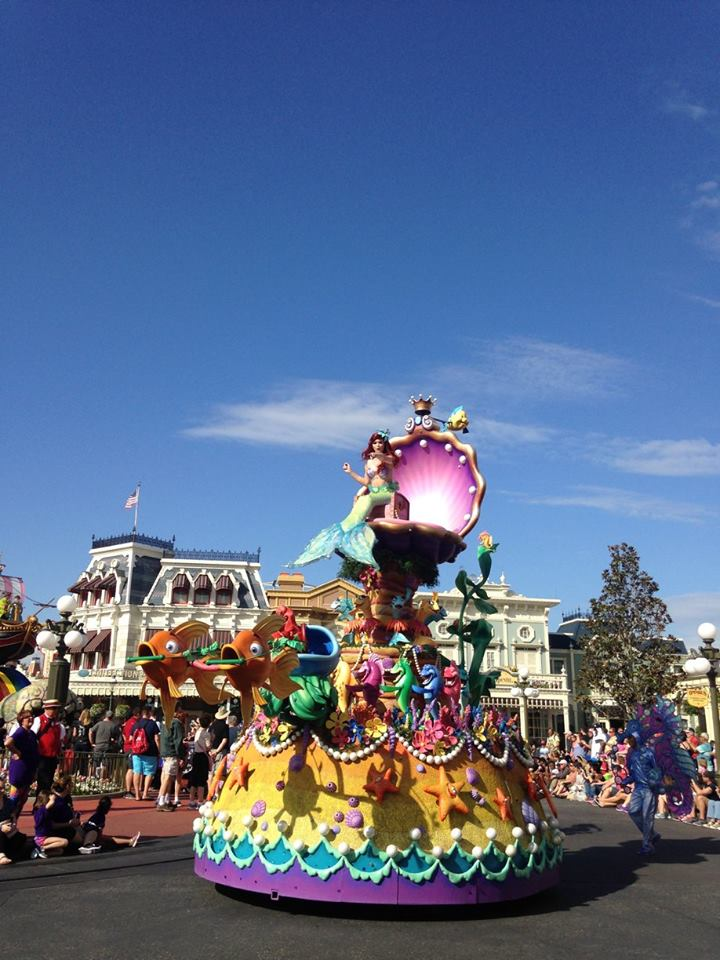 It's not Disney without a parade. Fellow mermaid here.