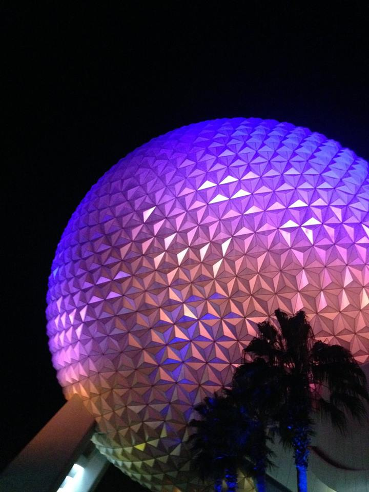 Very on brand Epcot ball. Also Judi Dench voices the British version of the ride inside.