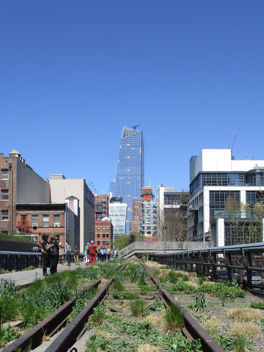 The High Line with it's art features.