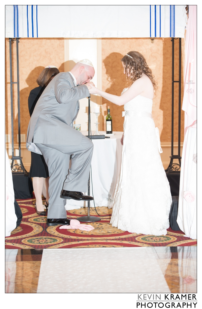 A Guests flash going off during one of the more important times during a wedding...