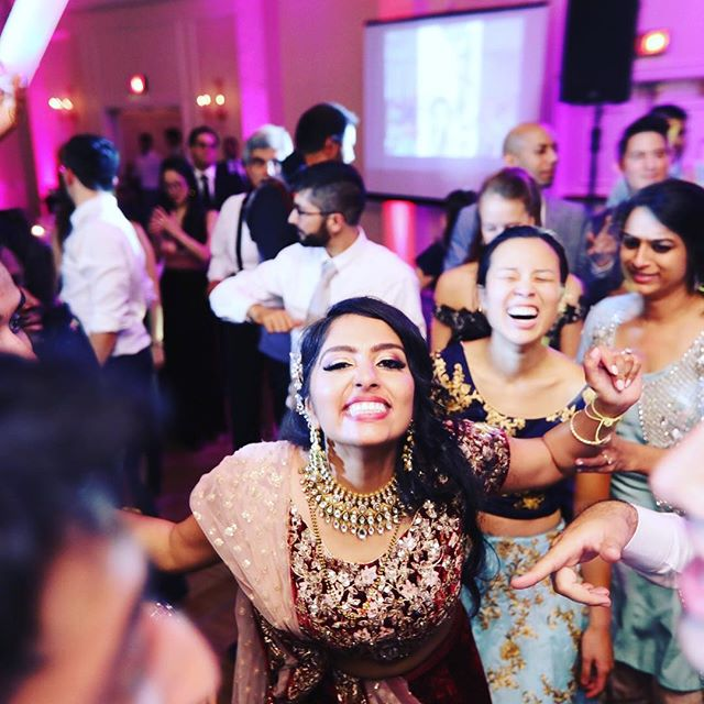The face of one happy #bride!  2 days, 3 ceremonies, and 2 receptions later and she's still dancing the night away!! Congratulations to Neil and Jasmine!!