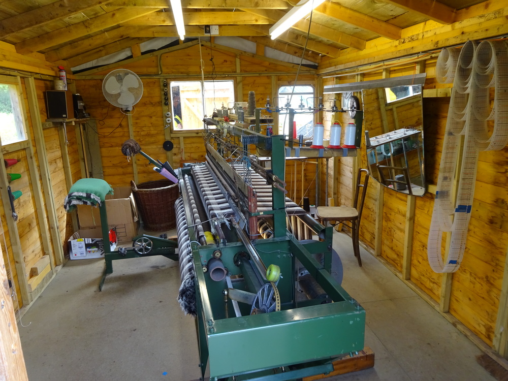 Inside Skye Weavers loom room