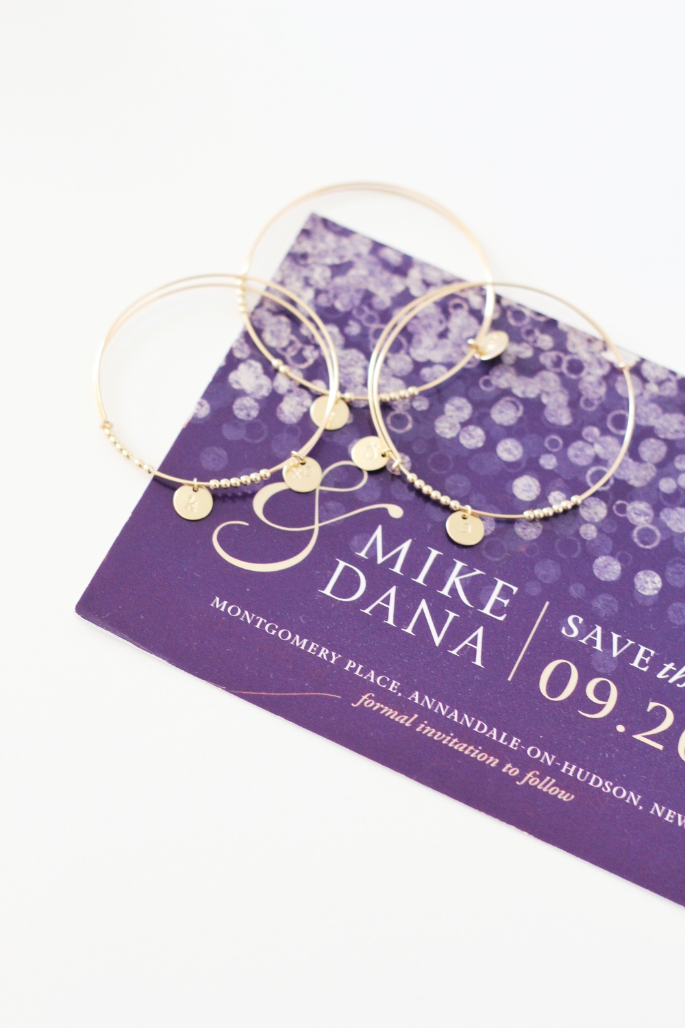 Hand-stamped personalized bangles