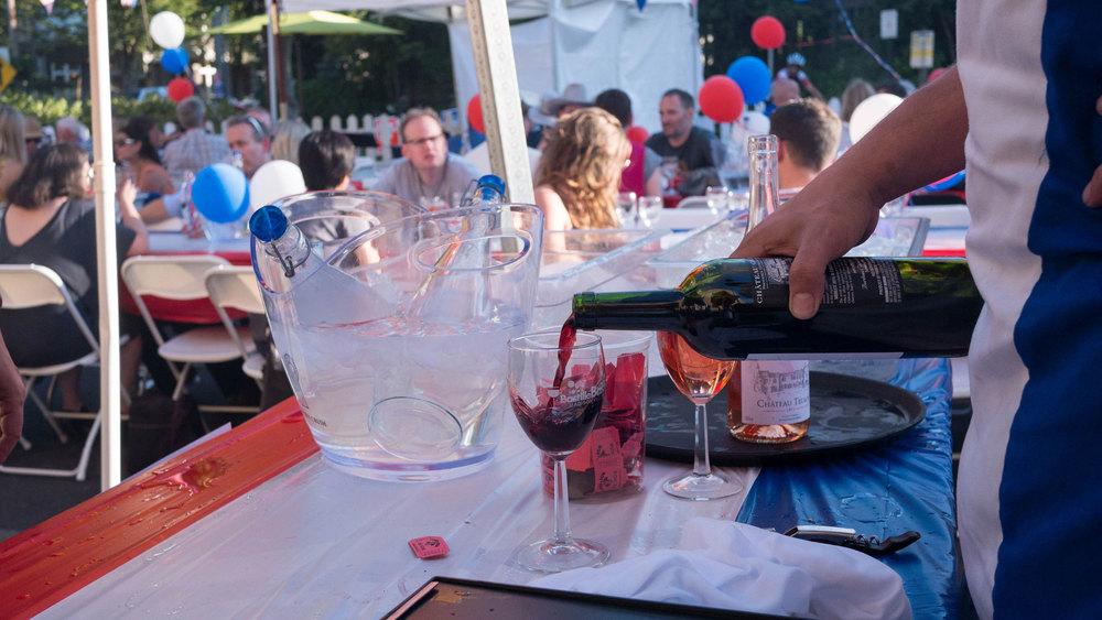 Bastille Celebration wine at Luc