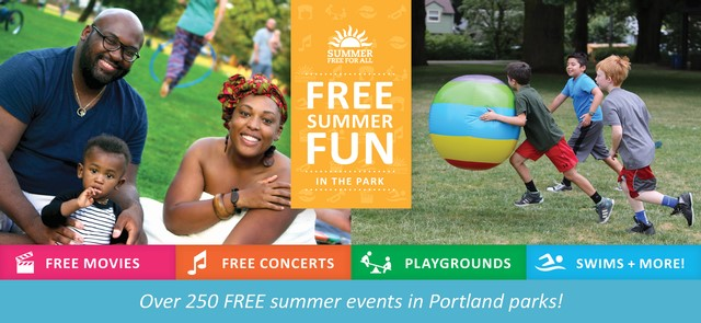 Portland Parks & Recreation Free Summer Fun in the Park