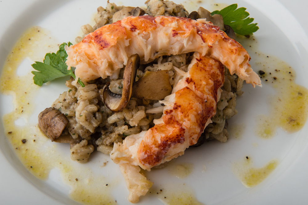 ABSOLUTELY LOBSTER® TRUFFLE RISOTTO  The lovely, earthy taste of Absolutely Lobster® Truffle Butter adds richness to mushroom risotto!
