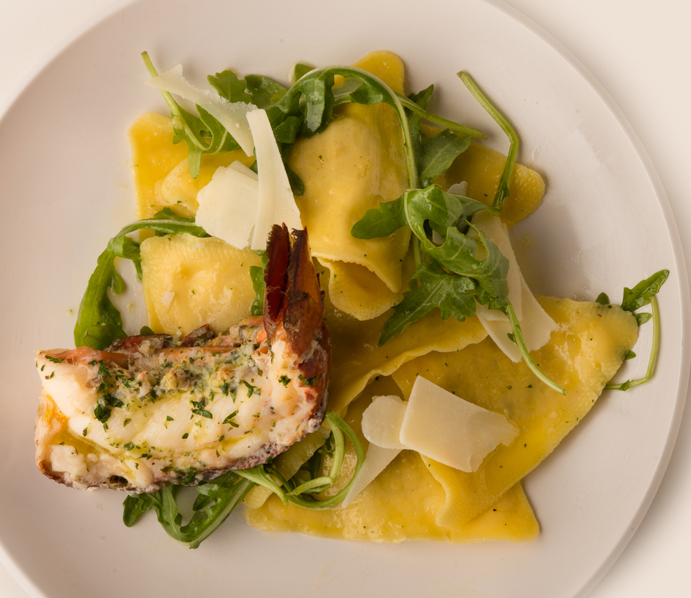ABSOLUTELY LOBSTER® with RAVIOLI   Cook up some of your favorite ravioli, garnish with arugula and fresh, shaved Parmesan cheese, and add Absolutely Lobster® for a fantastic meal!