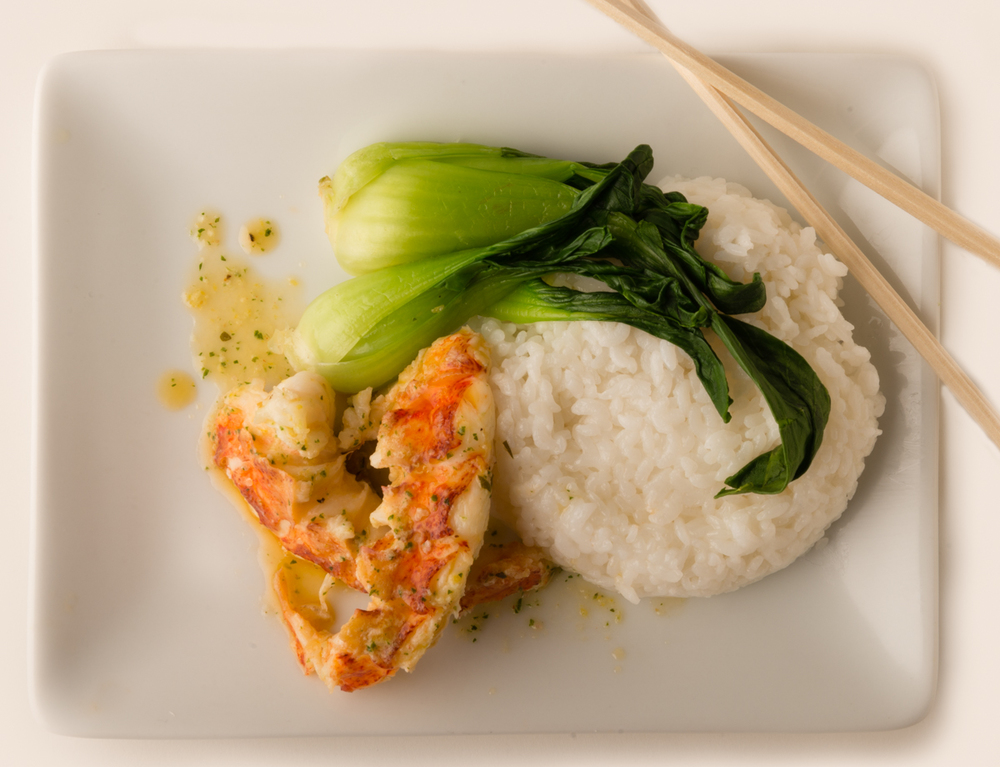 ABSOLUTELY LOBSTER® GREEN & WHITE  Add Absolutely Lobster® to simply prepared bok choy and rice for a lighter, Asian-influenced meal!