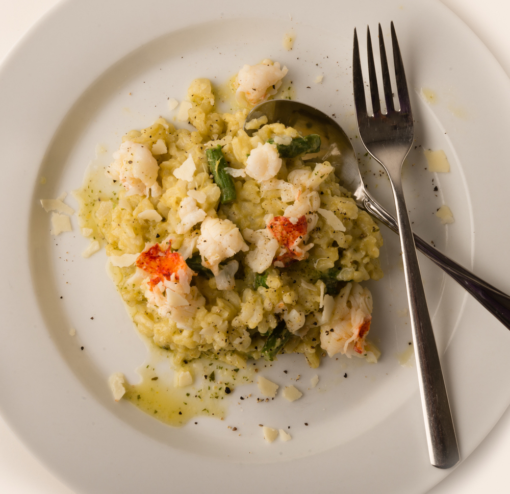 ABSOLUTELY LOBSTER® RISOTTO  After cooking, remove Absolutely Lobster® tail meat from the shells and add to your favorite risotto.  Mangia!