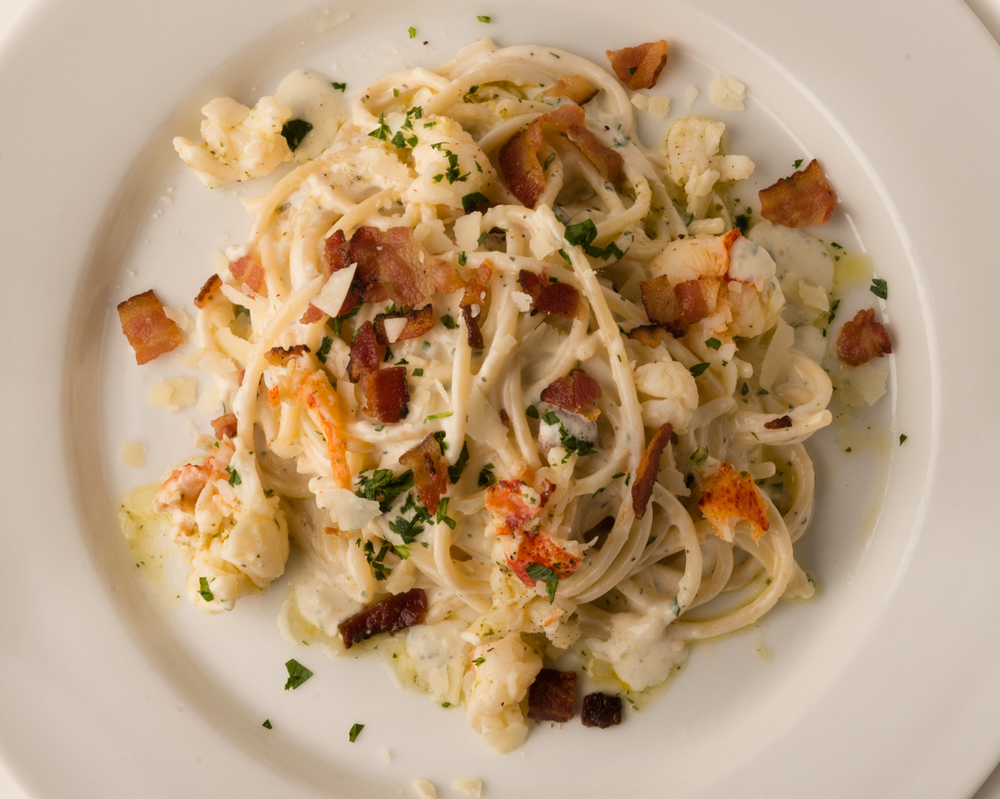 ABSOLUTELY LOBSTER® CARBONARA  Add chopped Absolutely Lobster® tail meat to spaghetti, sprinkle with Romano cheese and crumbled bacon, then mix with your favorite creamy, cheesy sauce!